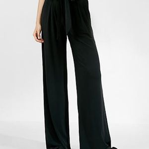 EXPRESS High Rise Belted Wide Leg Pants • 4R